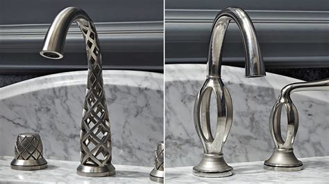 spiral kitchen faucet these impossibly twisted 3d printed taps somehow actually