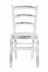Chaise En Bois Blanc : 110 scratch chaise rustique en bois laqu blanc finition ray e assise en bois ou rembourr e ~ Teatrodelosmanantiales.com Idées de Décoration