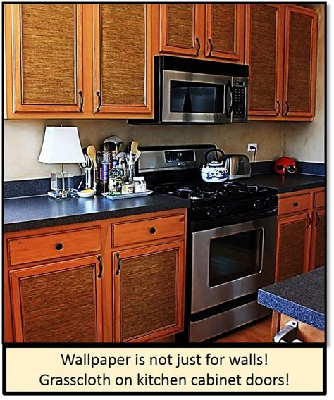 wallpaper inside kitchen cabinets grasscloth on kitchen cabinets 2017 grasscloth wallpaper