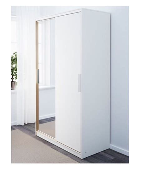 Ikea Armoire With Mirror by Ikea Morvik Wardrobe White Mirror 1 Year In Finsbury