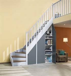 Placard Escalier : construire un placard sous escalier ~ Carolinahurricanesstore.com Idées de Décoration