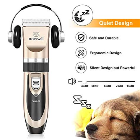 oneisall dog shaver clippers  noise rechargeable