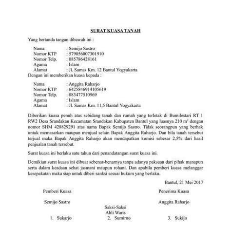 contoh surat kuasa  berbagai keperluan file