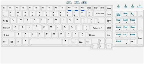 Rack Mount Sun Usb Drawer Keyboard Layout Drawing 1ru