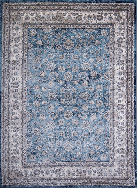 blue area rugs 5x7 blue ivory traditional 5x7 area rug bordered