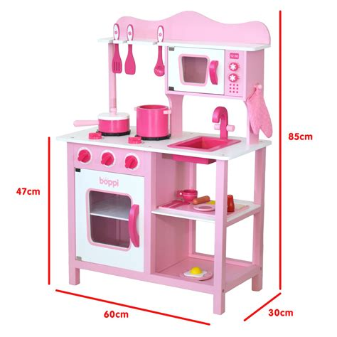 pretend kitchen accessories childrens pink wooden kitchen with 20 1645