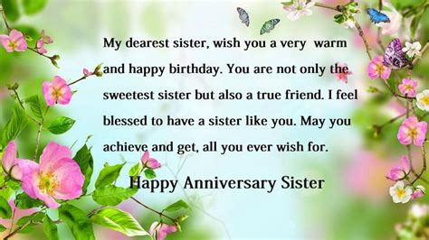 happy anniversary wishes  sister sister anniversary wishes happy anniversary happy