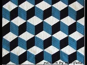 How to crochet 3D blanket afghan or rug free pattern ...