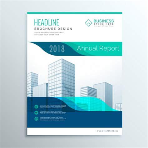 rapport brochure design flyer template moderne bleu annuel