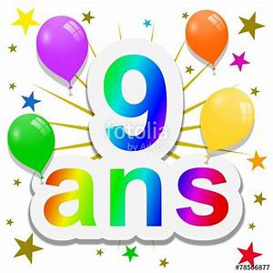 Carte Anniversaire Fille 9 Ans : anniversaire 9 ans photo libre de droits sur la banque d 39 images image 78566877 ~ Melissatoandfro.com Idées de Décoration