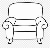 Cartoon Sofa Coloring Armchair Bench sketch template