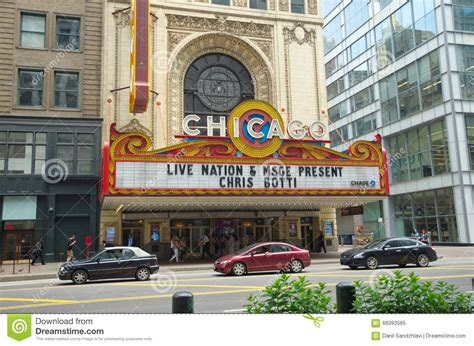 Theater District - Chicago - USA Editorial Image ...