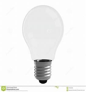 Blank Light Bulb Isolated On White Background Stock Photo ...