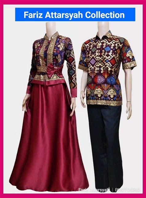 jual baju batik couple sarimbit gamis ehs  seragam pesta hijab muslim keluarga kondangan mewah