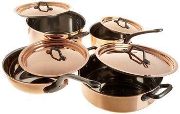 bourgeat  piece copper cookware set matfer bourgeat bourgeat  piece copper cookware set