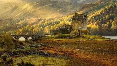 Scotland Castle Donan Eilean Autumn Fall Highland