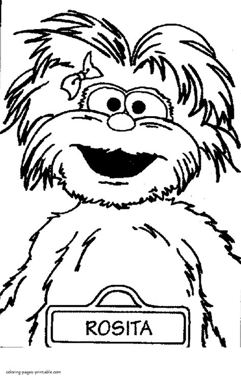 sesame characters coloring page