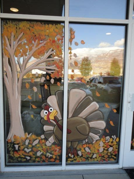 thanksgiving window decorations window painting window painting seasons