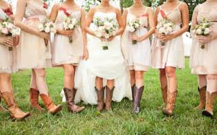 bridesmaid dresses with boots wedding dresses with cowboy boots wedwebtalks
