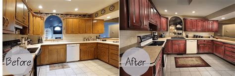 painting kitchen cabinets before after kitchen cabinets refacing before and after and the cost