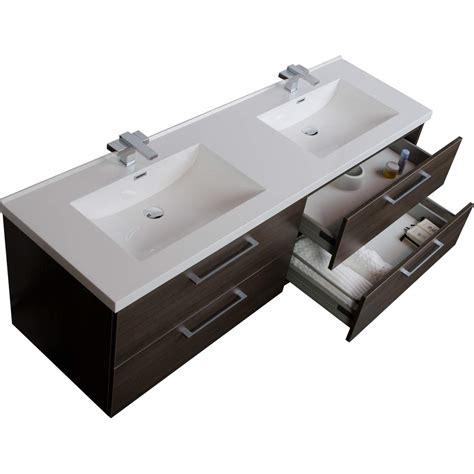 modern double sink vanity 67 quot modern double vanity set grey oak tn a1710 go