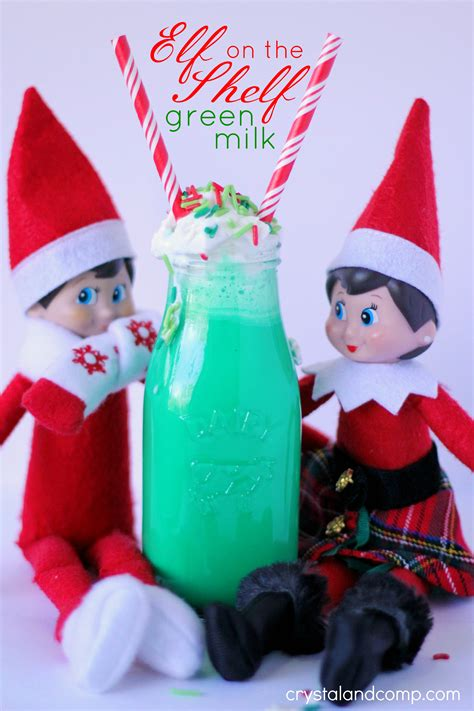 green on the shelf on the shelf ideas green colored milk