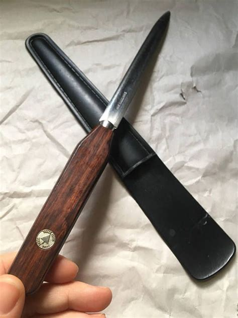 classic wood handle stainless steel blade letter opener