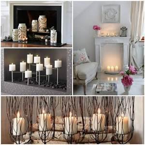 Deko Ideen Kerzen Im Glas : deko kamin romantische stimmung mit kerzen und laternen ~ Bigdaddyawards.com Haus und Dekorationen