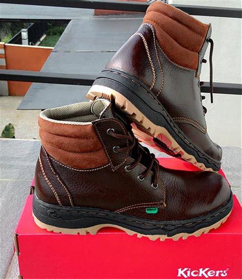 jual sepatu safety boots kickers bams brown di lapak gibran gibransport
