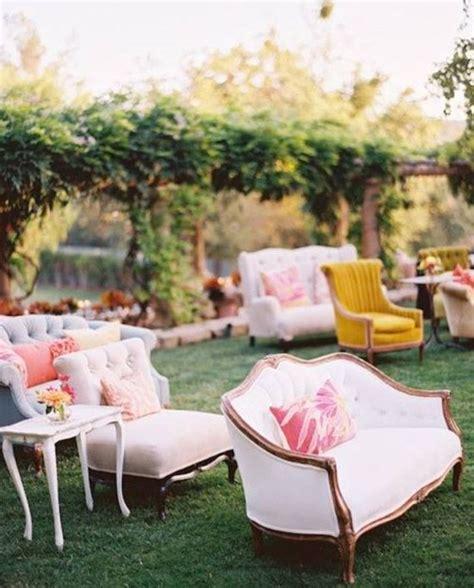 mismatched vintage ceremony chair rentals