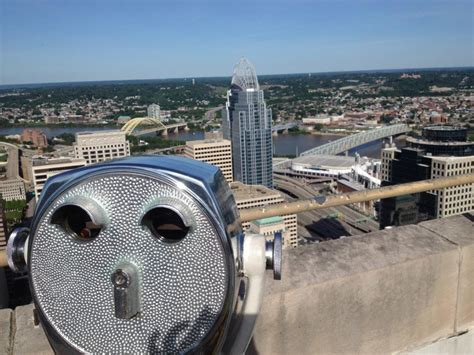 carew tower observation deck wedding 5 experiences for 5 or less views castles