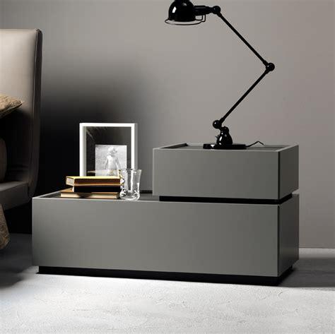 Como Designer Bedside Cabinet Taupe & Wenge