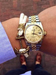 Wrist shot - Rolex date just, kjp anchor bracelet, h by ...