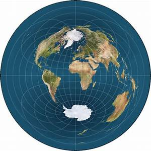 This flat earth map seems to make much more sense than the ...