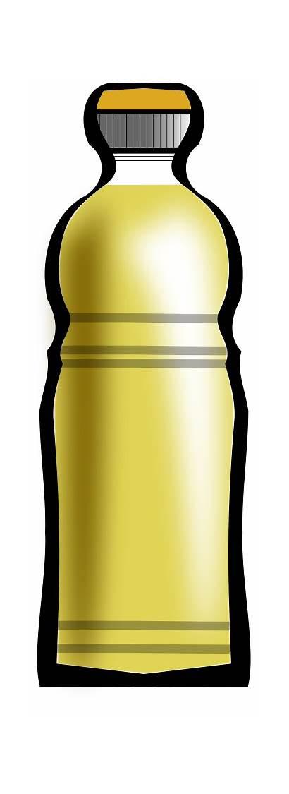 Oil Clip Clipart Bottle Sunflower Cooking Cliparts