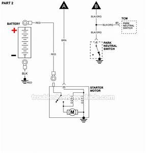 Starter Motor Circuit Wiring Diagram  1994