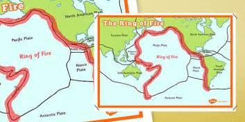 ring  fire map poster  ring  fire map poster