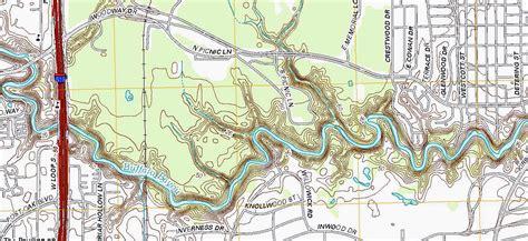 topographic map   buffalo bayou   project