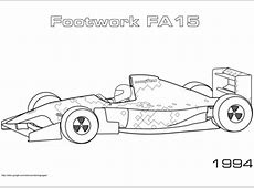1994 Footwork FA 15 coloring page Free Printable