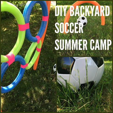 diy soccer camp  pool noodles sports