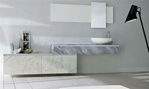 Meuble Salle De Bain Marbre : meuble de salle de bain 360 gradi marbre porto venere ~ Teatrodelosmanantiales.com Idées de Décoration