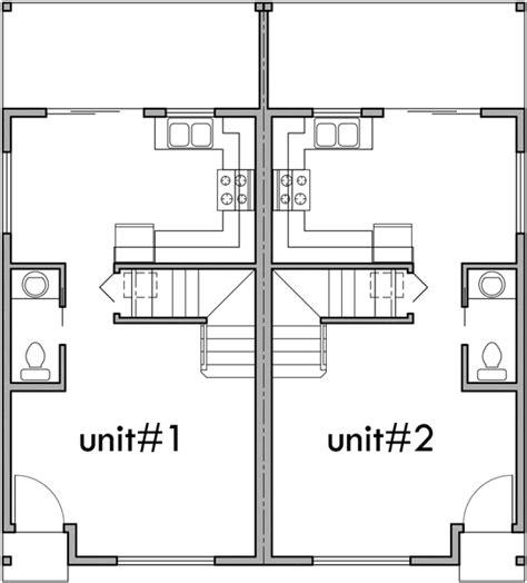 duplex floor plans for narrow lots narrow lot duplex house plans escortsea