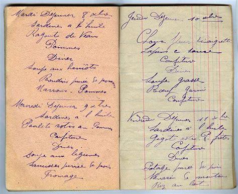 carnet de cuisine vierge carnet de cuisine 1914