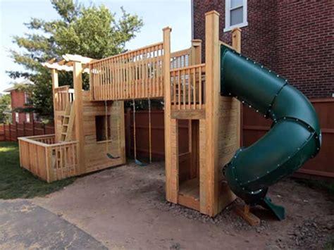 build  outdoor wood playset   dreams