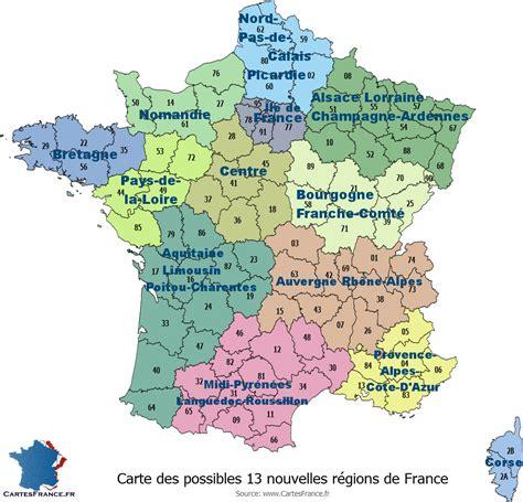 La france des 13 regions. carte de france region a remplir - Les cartes de france et ...
