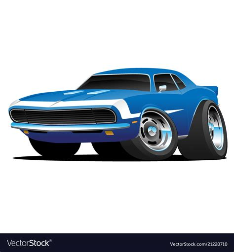 classic american muscle car hot rod cartoon vector image