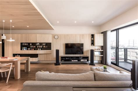 A Modern Apartment Celebrates The Look Of Wood a modern apartment celebrates the look of wood