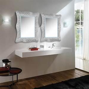 fixation miroir salle de bain dootdadoocom idees de With carrelage adhesif salle de bain avec eclairage led rail