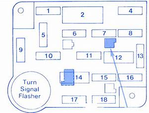 Ford Capri 1990 Fuse Box  Block Circuit Breaker Diagram