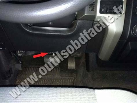 obd connector location  ford